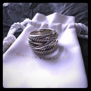 David Yurman Crossover Wide Sterling Silver Ring